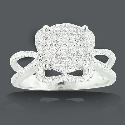 Gold Diamond Engagement Ring 0.75ct 14K