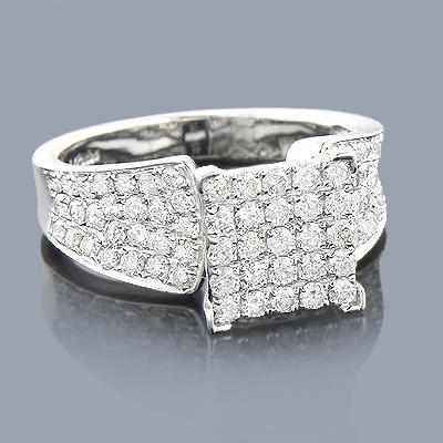 Gold Diamond Engagement Ring 1.59ct 14K