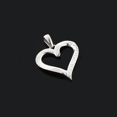 Gold Diamond Heart Pendant 0.08ct 10K Gold