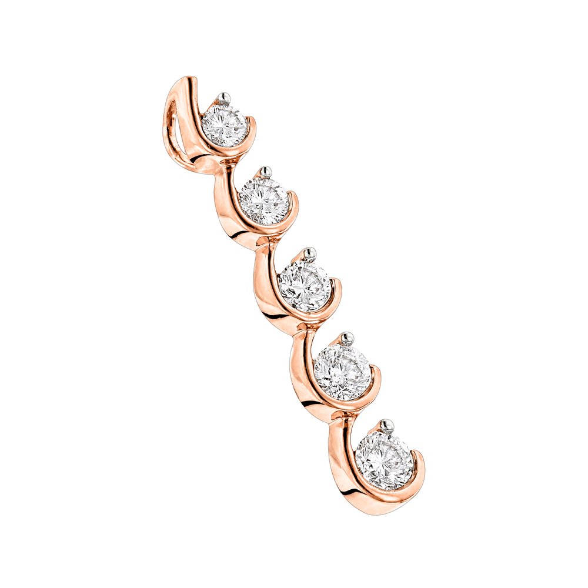 Ladies Diamond Pendants: 14k Gold Journey Jewelry Collection Item 0.5ct