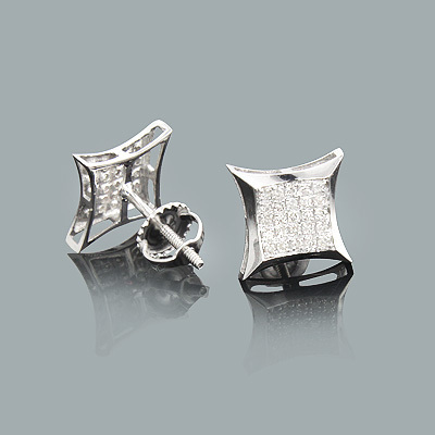 Gold Diamond Stud Earrings 0.18ct 14K