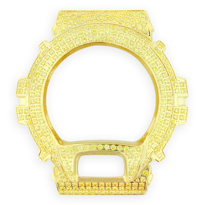 Gold Tone G-Shock Bezel with Yellow Crystals