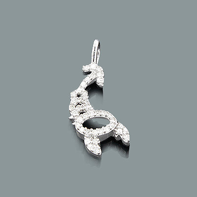 Gold Zodiac Jewelry: Diamond Scorpio Pendant 0.14ct 10K Gold Charm