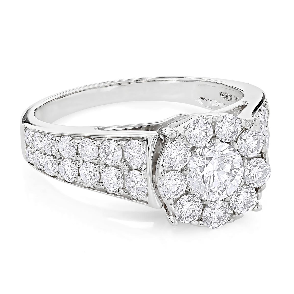 Gorgeous Designer Diamond Engagement Ring 2.22ct 14K Gold