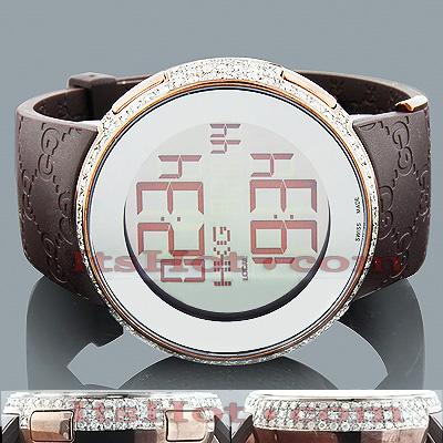 Gucci Watches Mens Diamond Watch 3.10ct