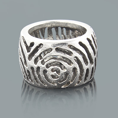 Handcrafted Silver Jewelry: Cutout Design Ring