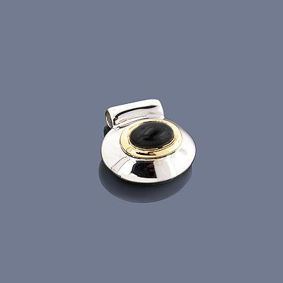 Hematite 18K Sterling Silver Pendant