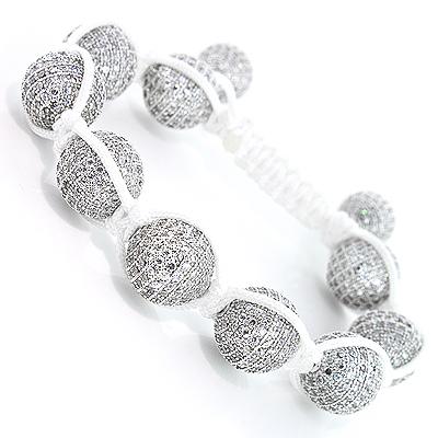 Hip Hop Jewelry: Disco Ball White Crystal Bracelet