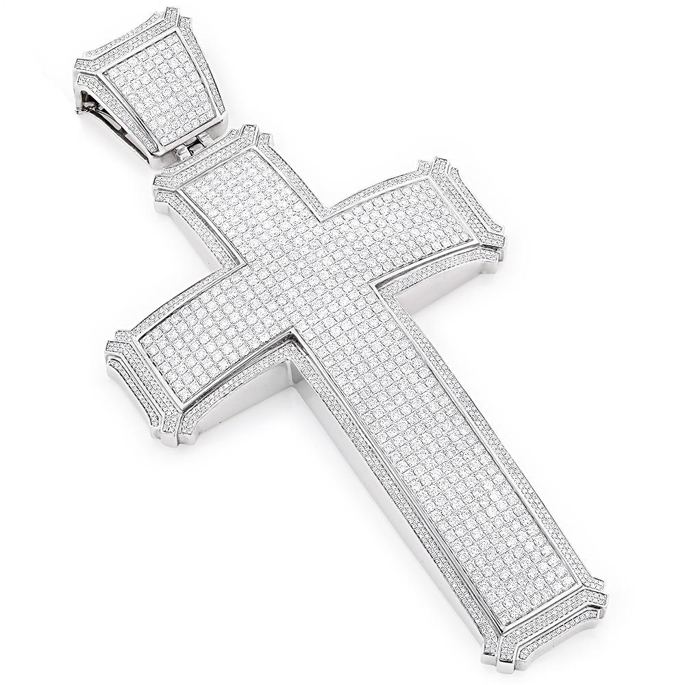 Hip Hop Jewelry: Large 14K Gold Mens Diamond Cross 23ct