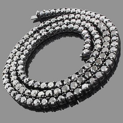 Hip Hop Jewelry: Men's 10K Black Diamond Chain 125.20ct