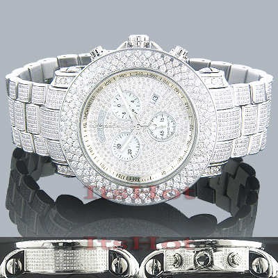 Hip Hop Watches: Joe Rodeo Junior Fully Iced Out Diamond Watch 21ct