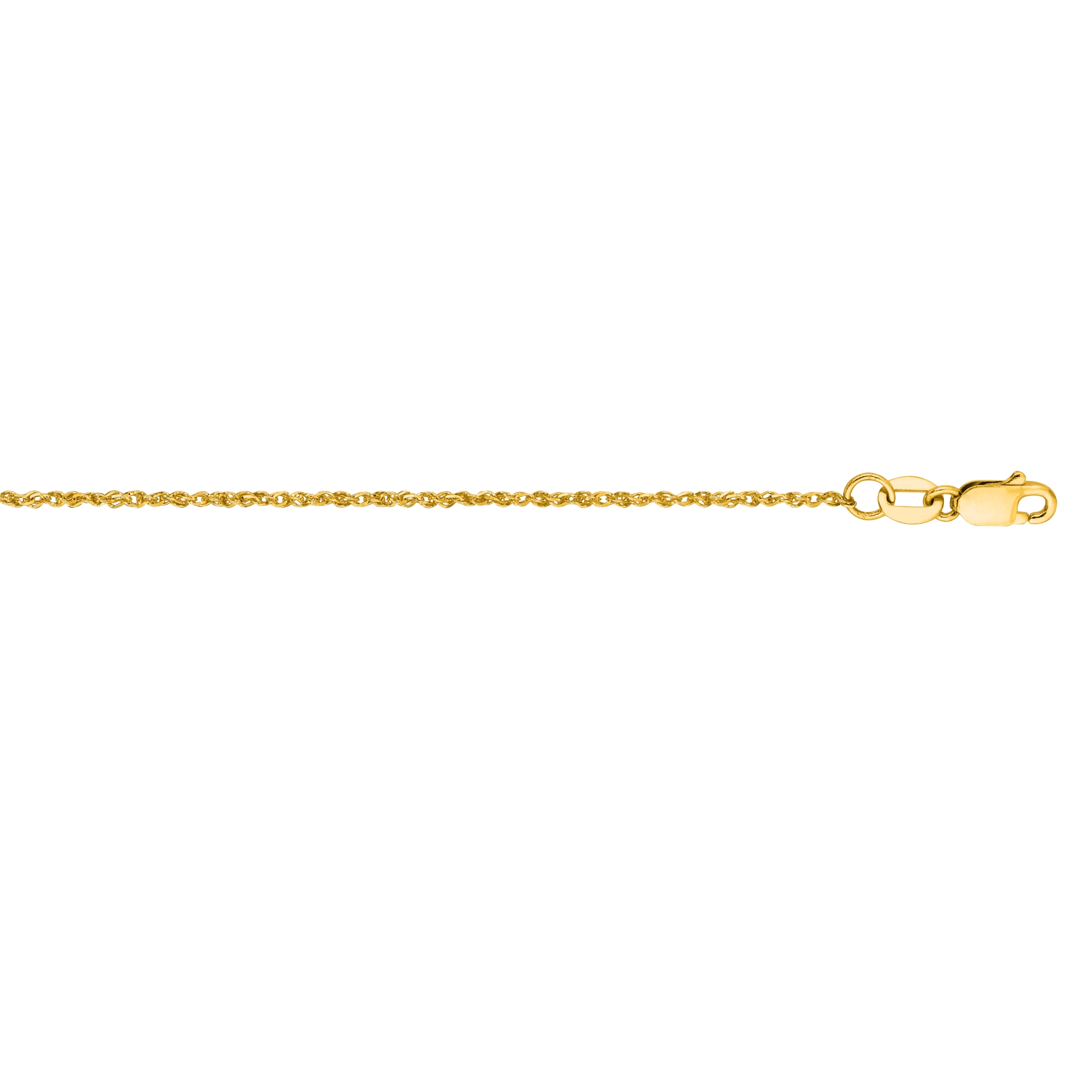 Hollow 10k Gold Ropa Chain For Men & Women 1.2mm Wide