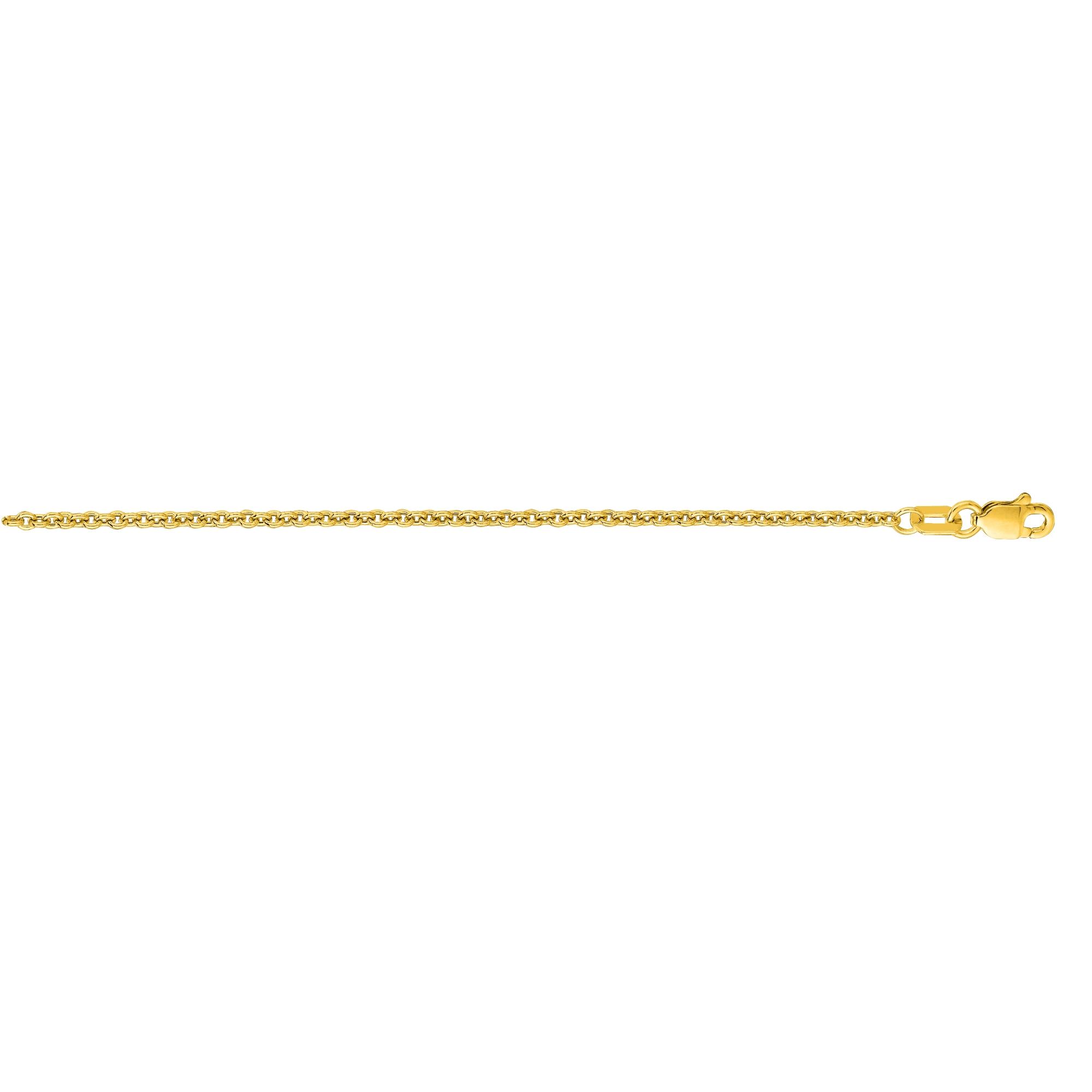 Hollow 14k Gold Forsantina Chain For Men & Women 1.9mm Wide