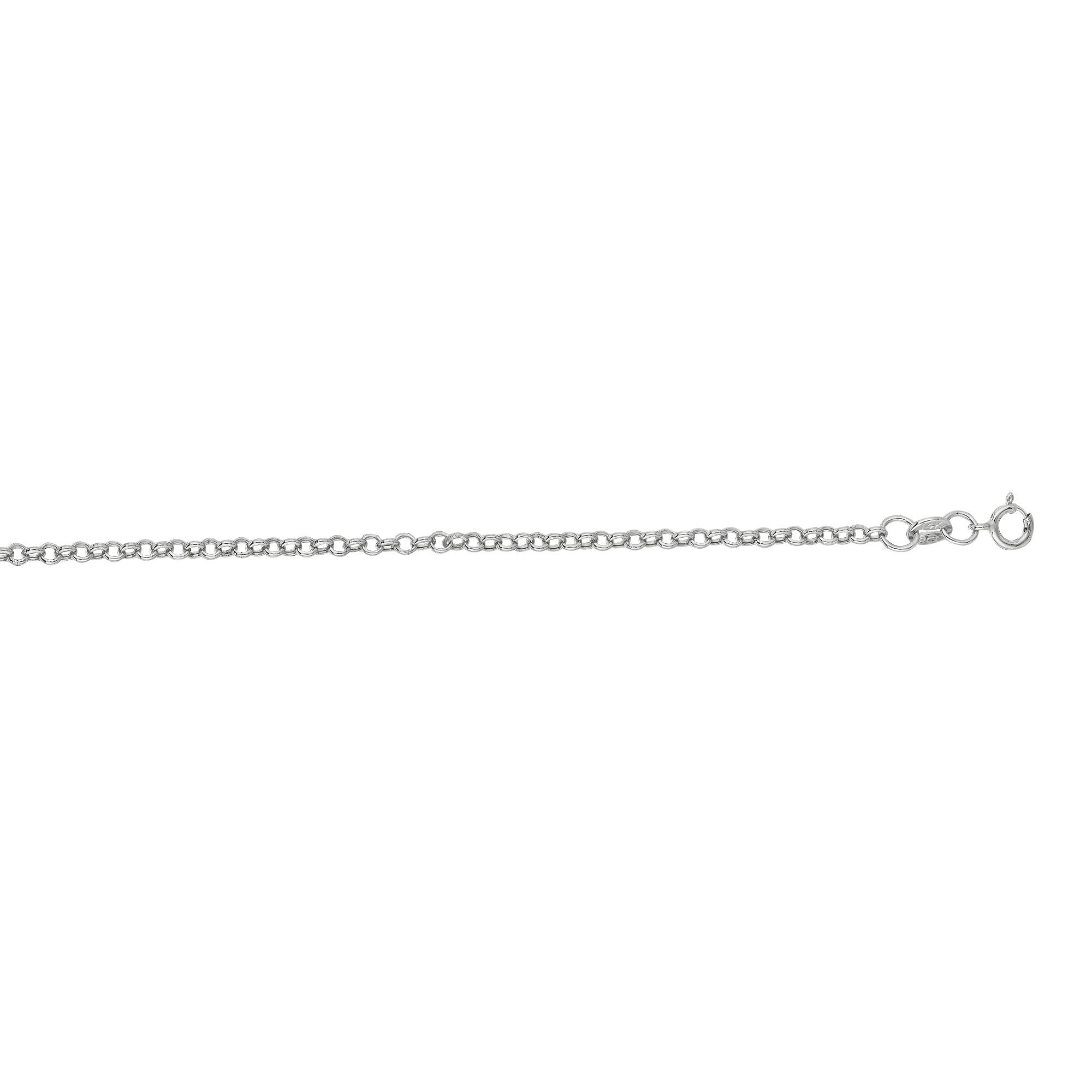 Hollow 14k Gold Rolo Chain For Men & Women 2mm Wide