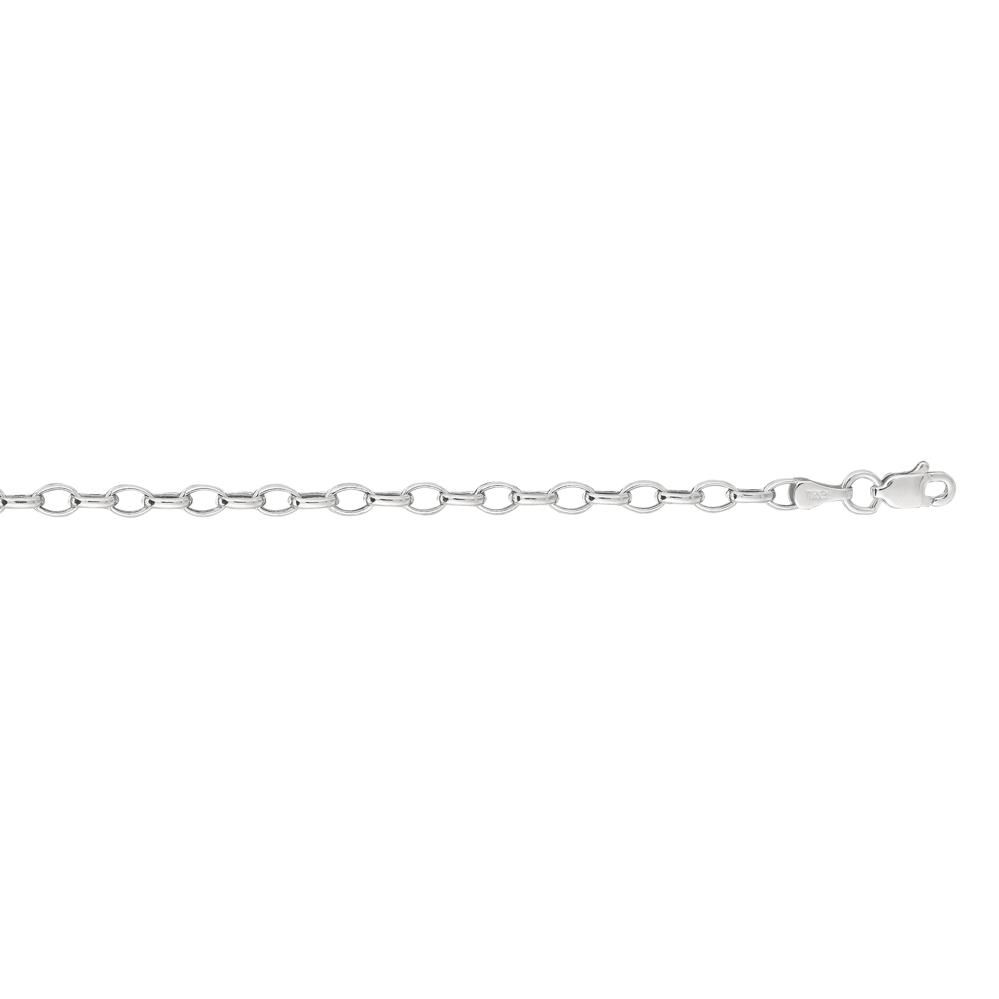 Hollow 14k Gold Rolo Chain For Women Oval 3mm Wide