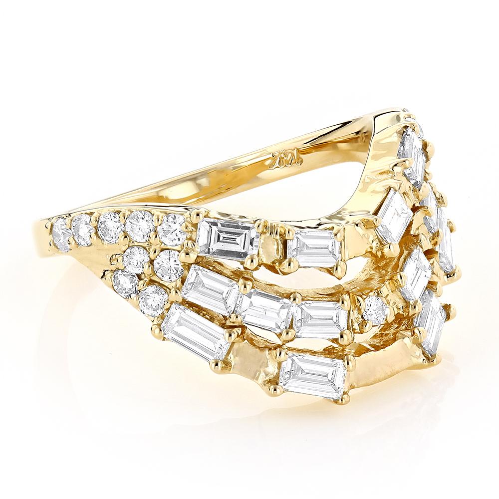 I Ching Trigram Diamond Wedding Ring 1.15ct 14K Custom Made