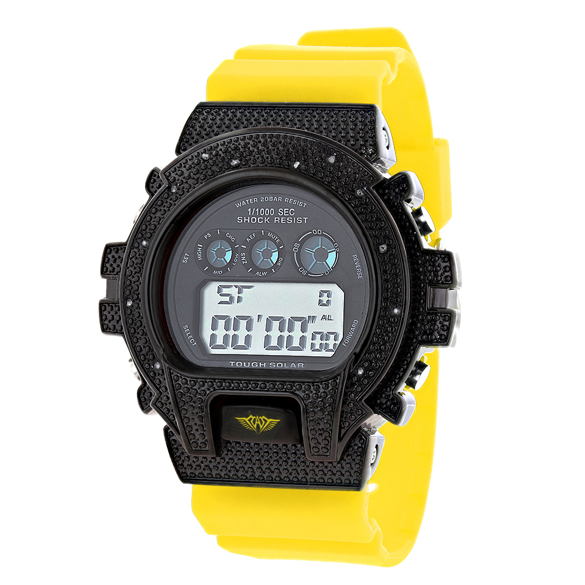 Ice Plus Mens Diamond Watch 0.12ct G-Shock Watch Style