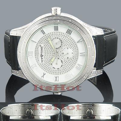 Ice Time Diamond Double Decker Watch 0.75ct White MOP
