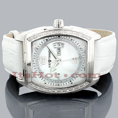 Ice Time Watches Collection Diamond Watch for Men 0.2ct White