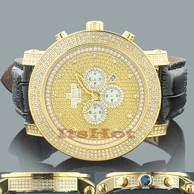 Ice Time Watches: Mens 3 Carat Diamond Watch