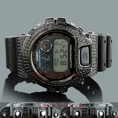 Iced Out G SHOCK Watches: Black Diamond Watch 4.50ct