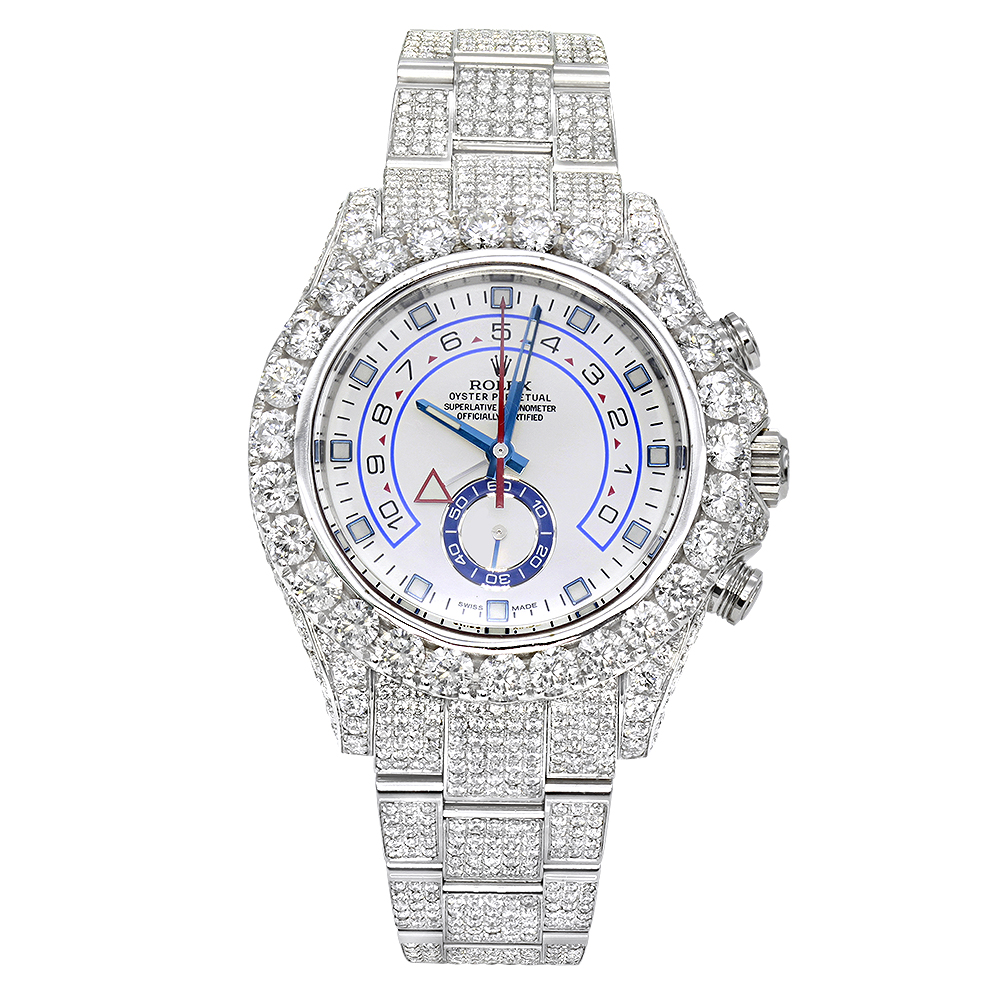 Iced Out  Rolex Oyster Perpetual Mens Diamond Watch 23ct