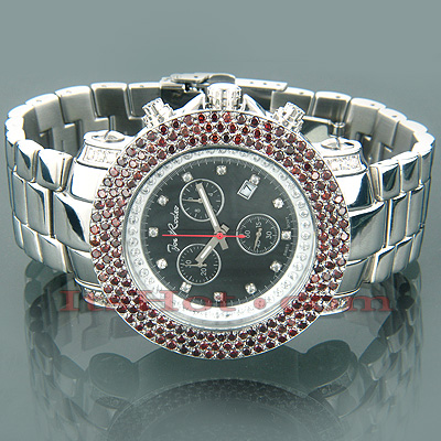Iced Out Watches Joe Rodeo Red Diamond Watch 8.75ct
