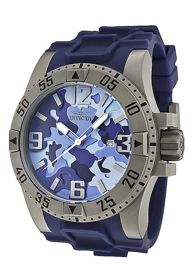 Invicta Watches: Men's Excursion Blue Dial Blue Polyurethane 1096