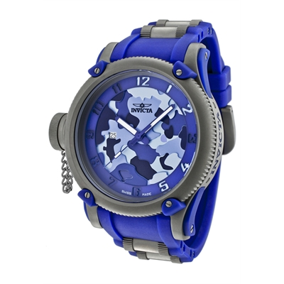 Invicta Watches: Men's Tsunami Warrior Limited Edition Blue Dial Blue Rubber 1201