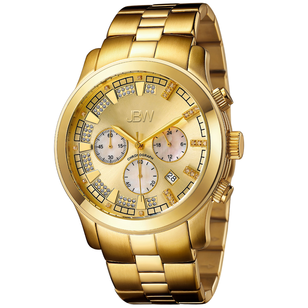 JBW Watches DELANO Men's Diamond Watch JB-6218-E