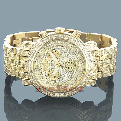 Joe Rodeo Classic Mens Diamond Watch 3.75ct Yellow