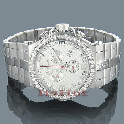 Joe Rodeo Mens Diamond Watch 3.25ct Silver Phantom
