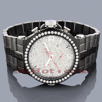 Joe Rodeo Mens Diamond Watch Phantom 8.75ct Black