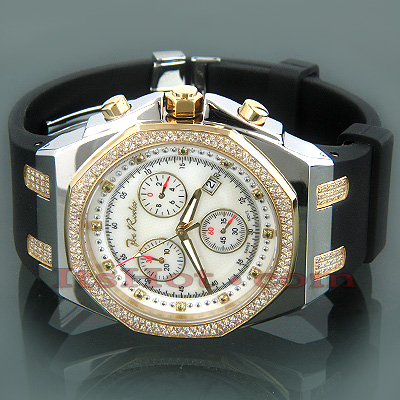 Joe Rodeo Panama Mens Diamond Watch 2.15ct Yellow Gold