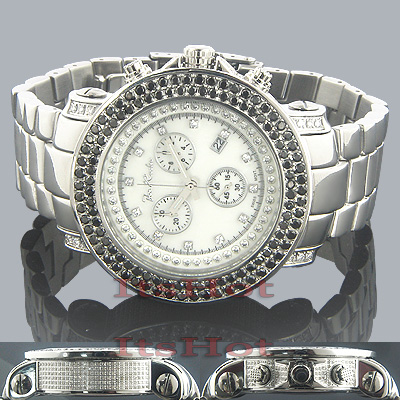 Joe Rodeo Watches Junior Black Diamond Watch 6.75ct