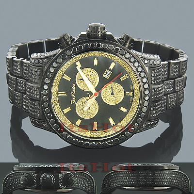 Joe Rodeo Watches Mens Black Diamond Watch Pilot 27.70