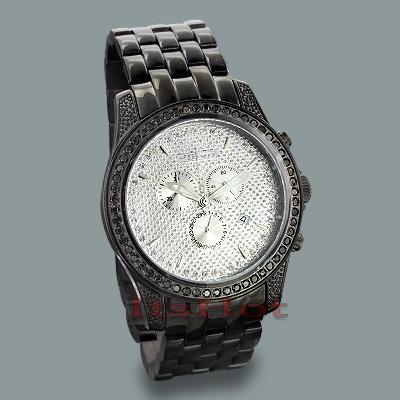 JoJino Watches: Mens Black Diamond Watch 2.25ct