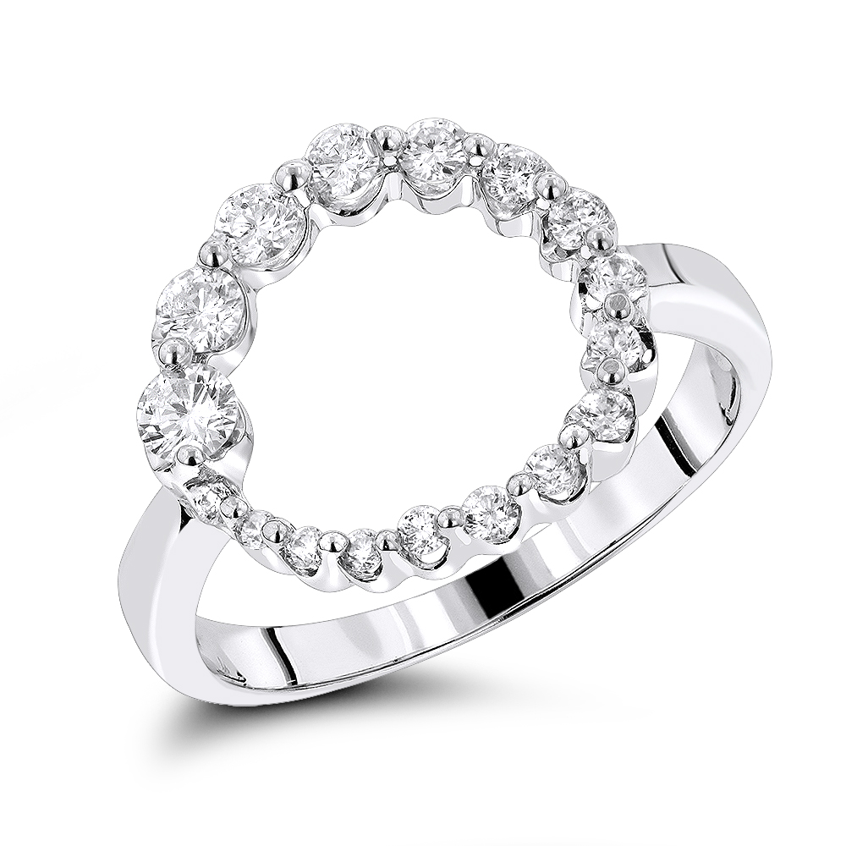 Journey Jewelry 14K Journey Diamond Circle Ring 0.80ct