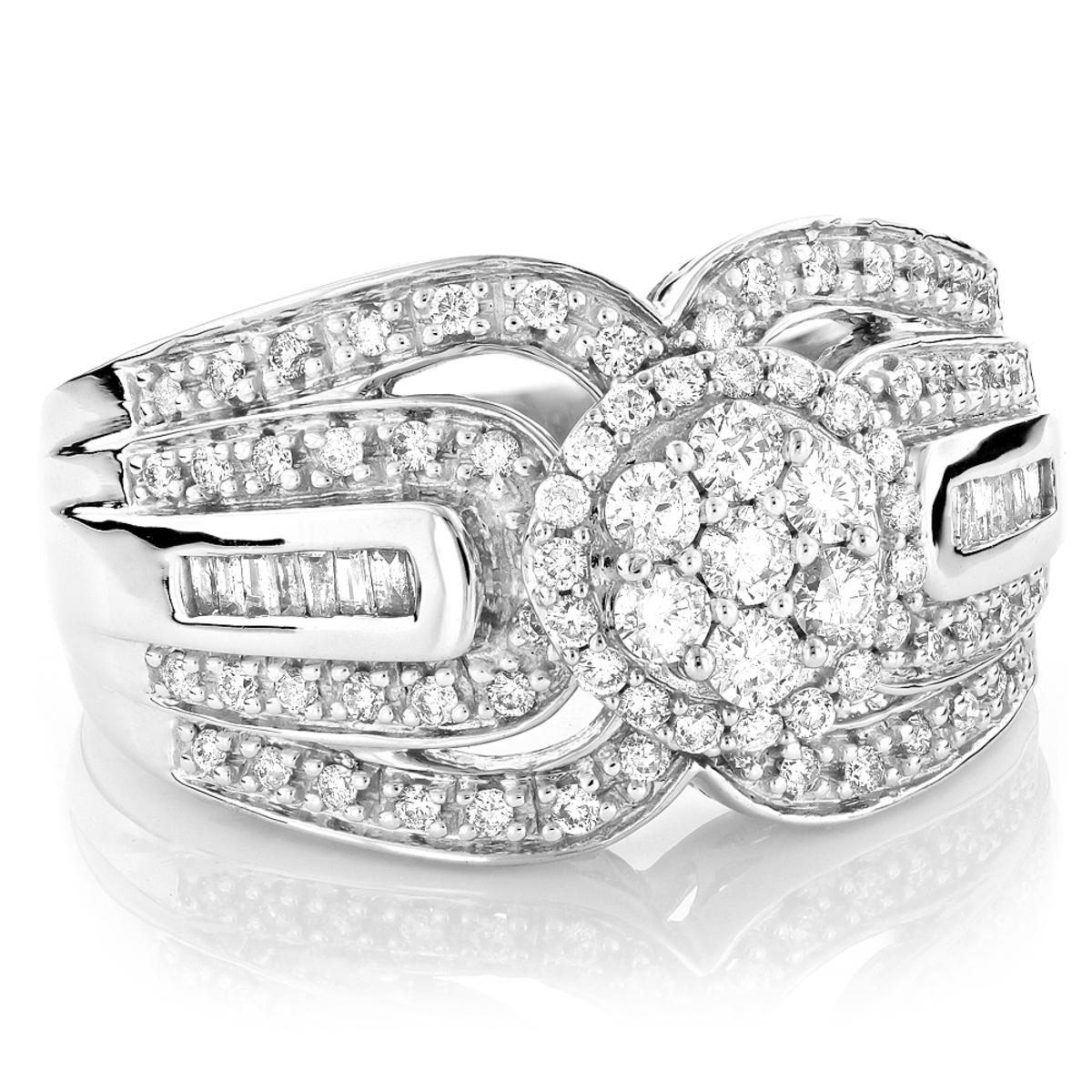 Ladies 14K Gold Pre-Set Diamond Engagement Ring 1.22ct