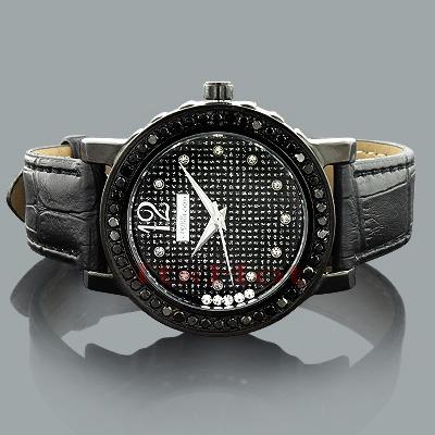 Ladies Black Diamond Watch by JoJino 2 carats