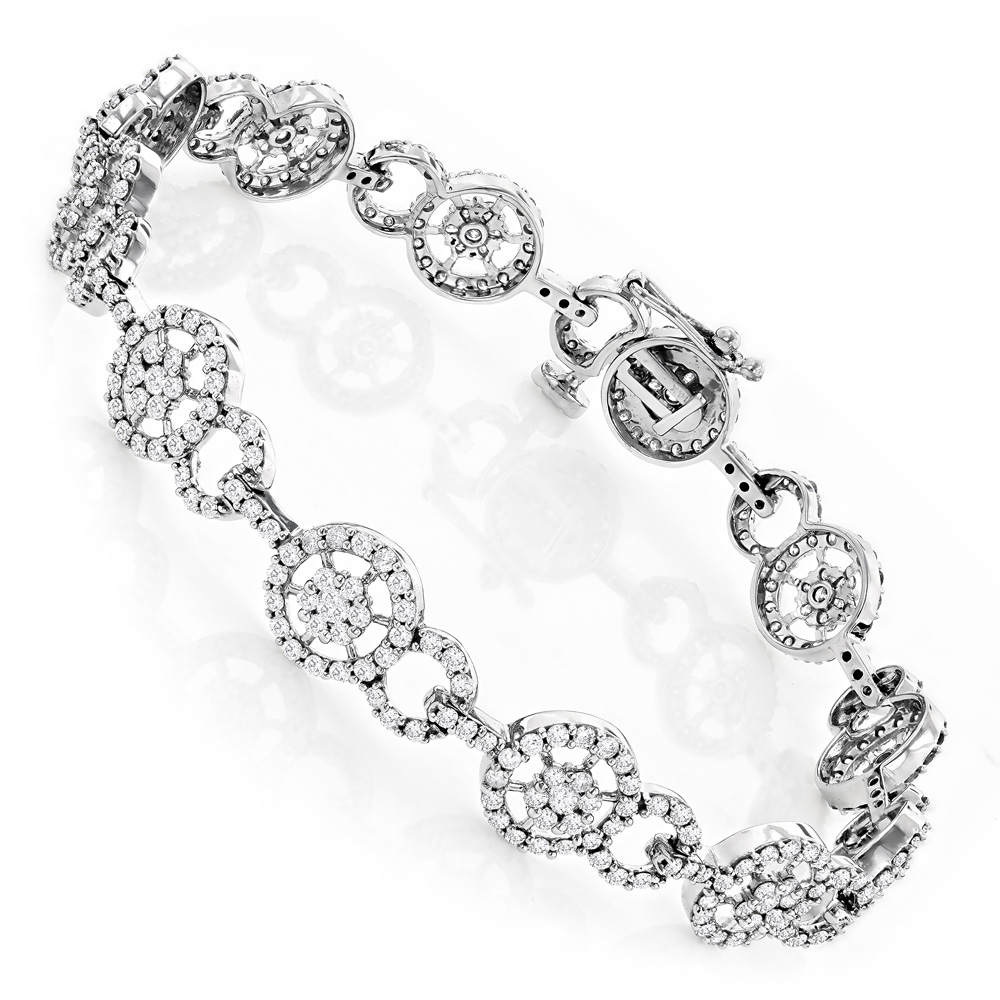 Ladies Bracelets 14K Gold Diamond Circle Bracelet 4.83