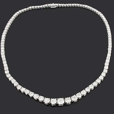 Ladies Designer Diamond Eternity Necklace 17.70ct 18K Gold
