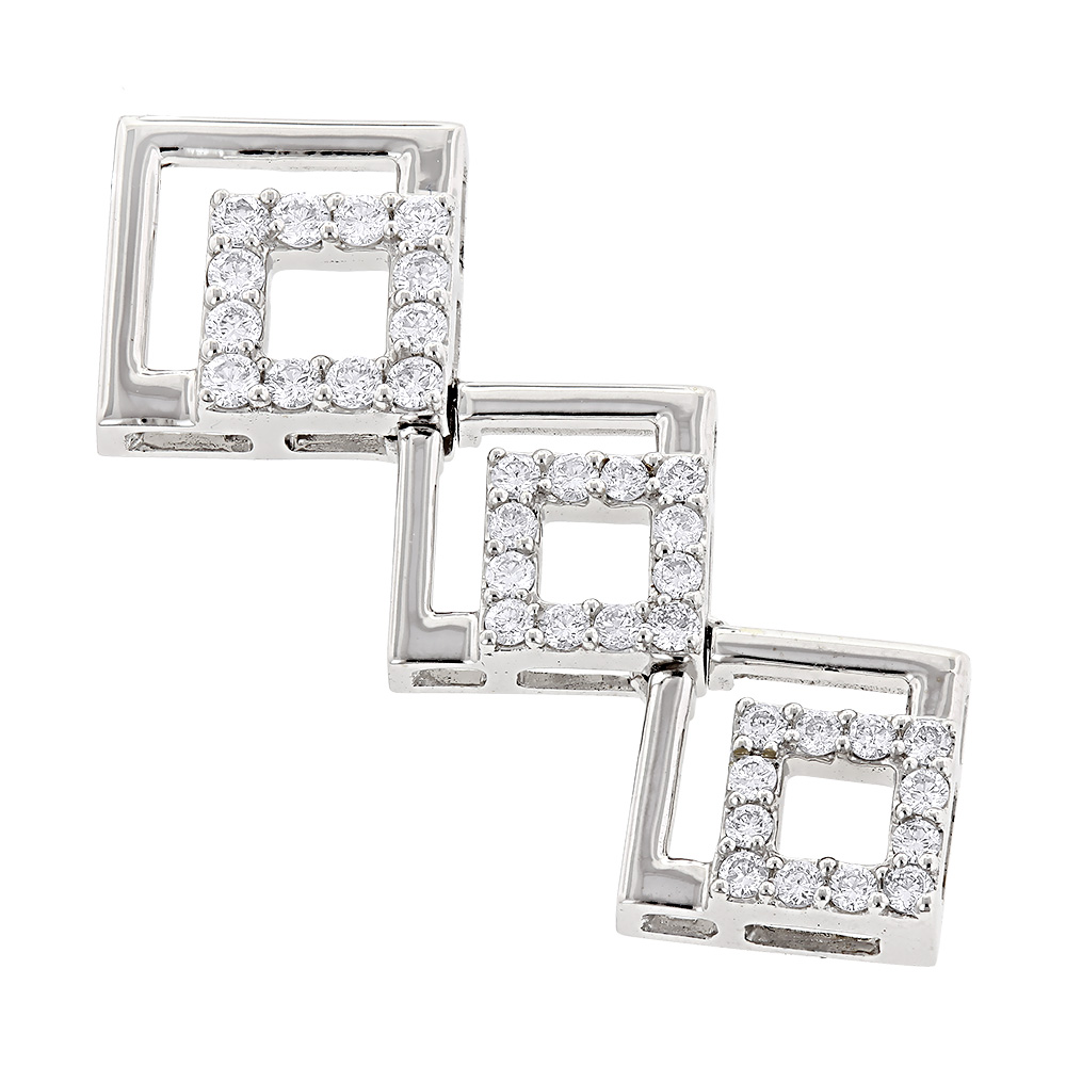 Ladies Designer Diamond Pendant 0.75ct 14K Gold