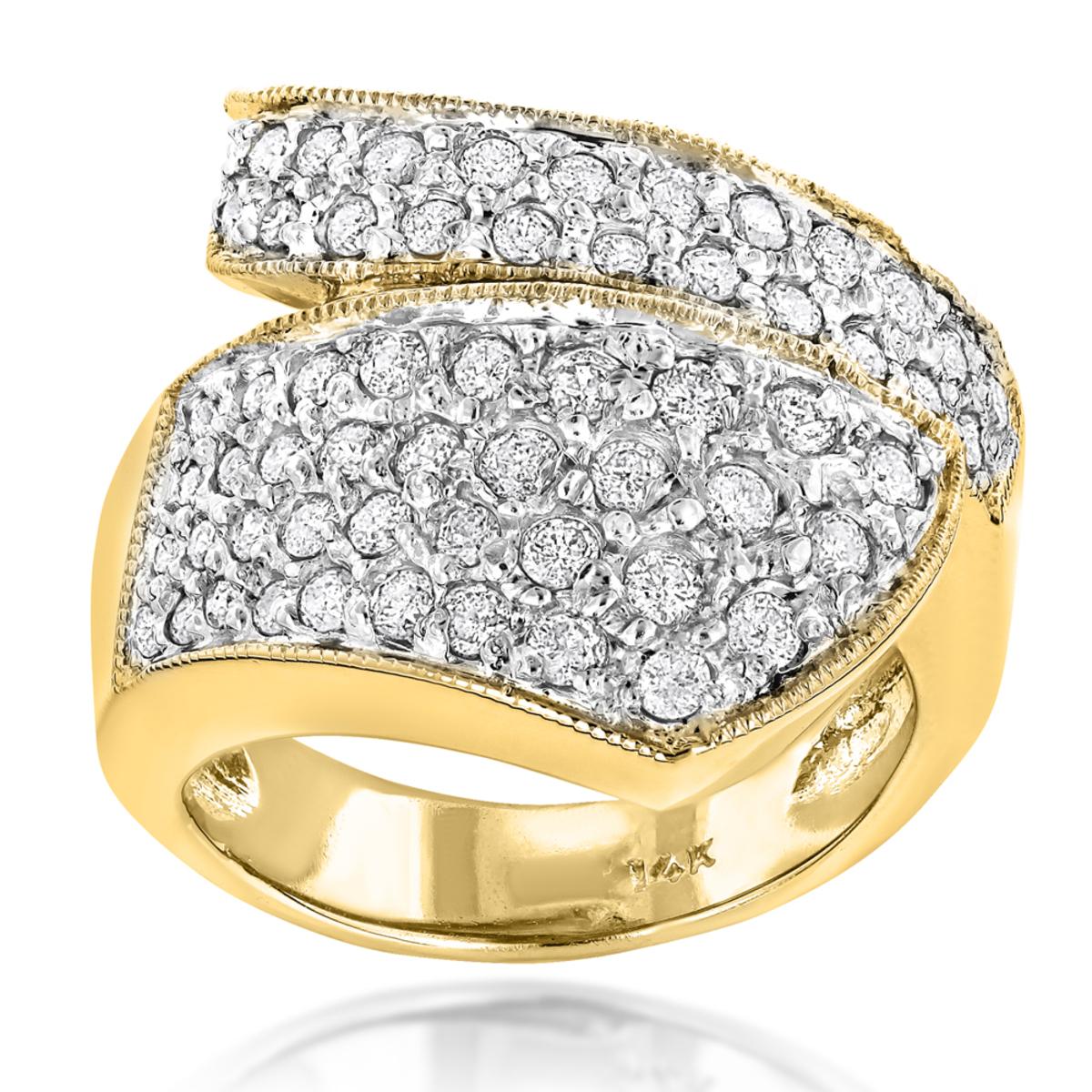 Ladies Designer Diamond Ring 1ct 14K Gold