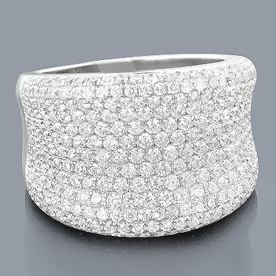 Ladies Designer Diamond Ring 2.10ct 14K Gold