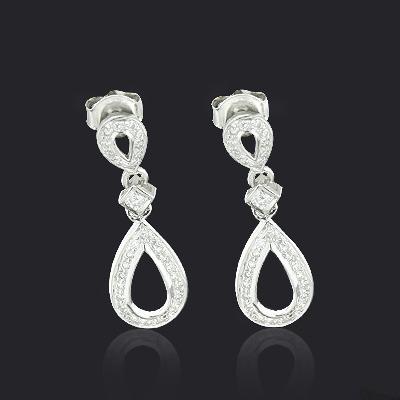 Ladies Diamond Drop Earrings 0.28ct 10K Gold