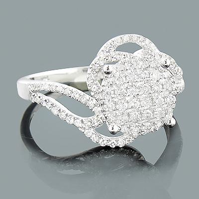 Ladies Diamond Engagement Ring 0.66ct 14K