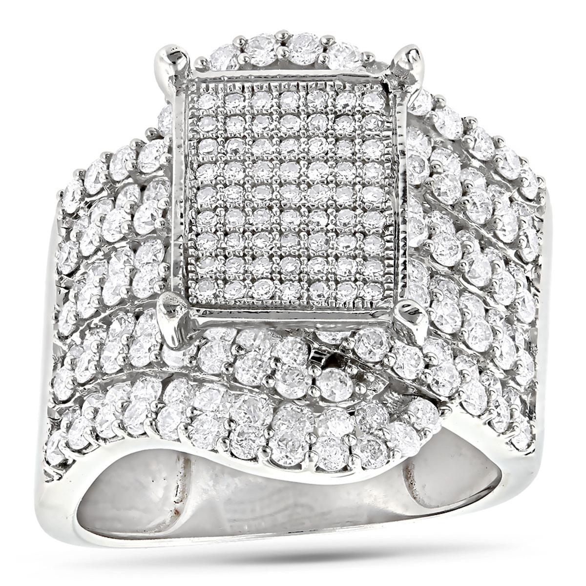 Ladies Diamond Engagement Ring 14K 2.69ct