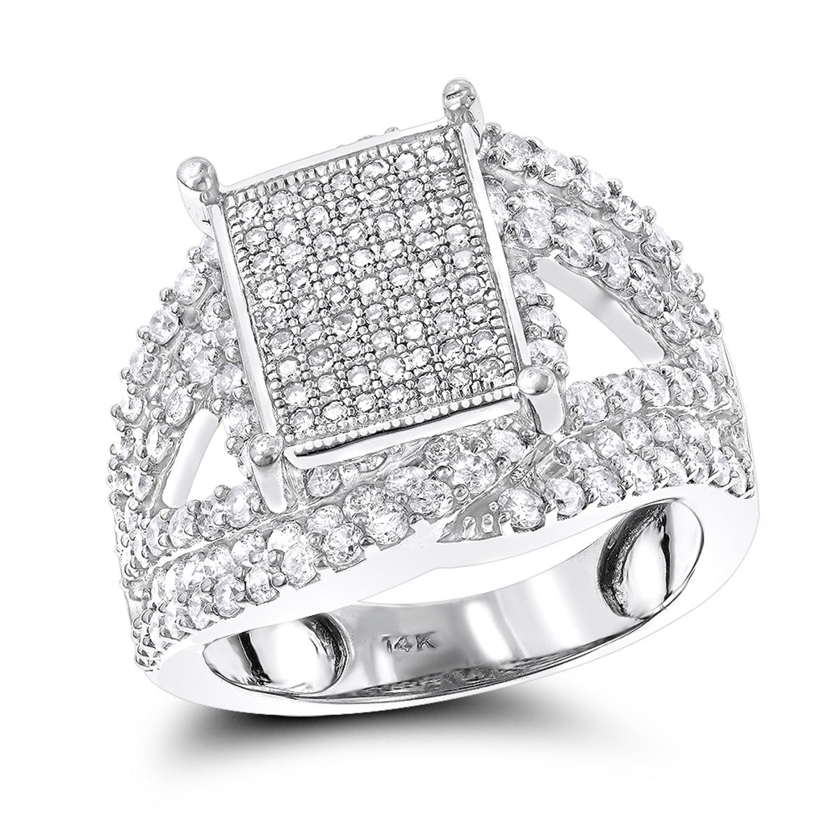 Ladies Diamond Engagement Ring 14K 1.5 ct