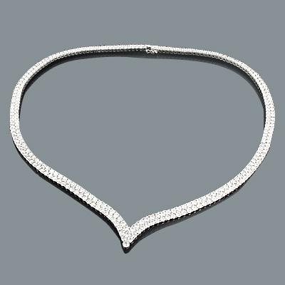 Ladies Diamond Eternity Necklace 23.67ct 18K Gold